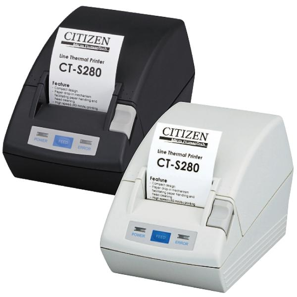 Citizen CT-S281L, USB, 8 Punkte/mm (203dpi), Cutter, weiß