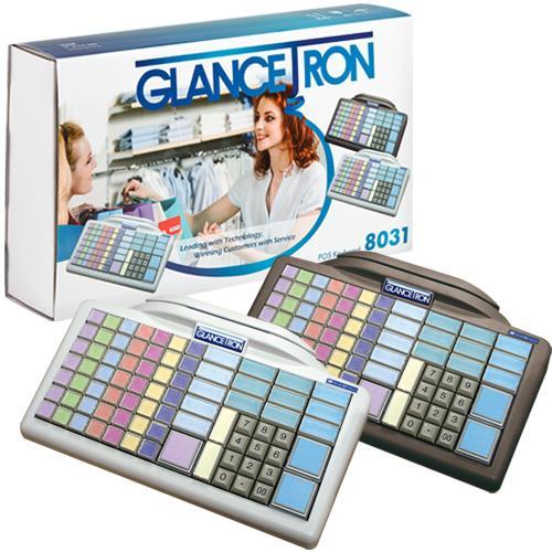 Glancetron Keyboard 8031, Num., MKL, RS232, PS/2, Kit, schwarz