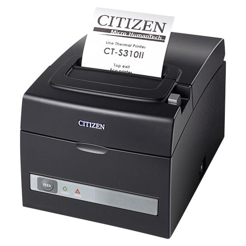 Citizen CT-S310II LAN, Dual-IF, 8 Punkte/mm (203dpi), Cutter, schwarz