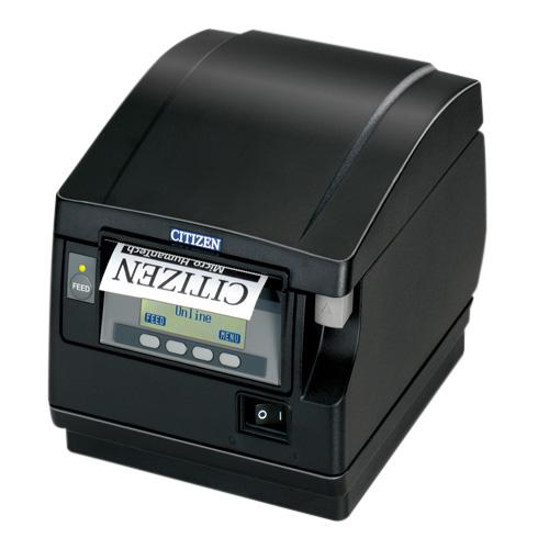 Citizen CT-S851II, BT, 8 Punkte/mm (203dpi), Cutter, Display, schwarz